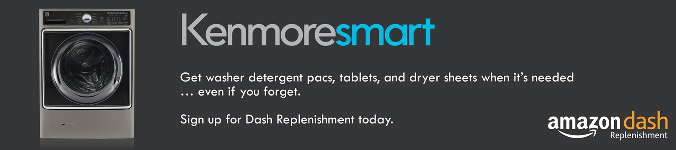 kenmore smart - amazon dash replenishment