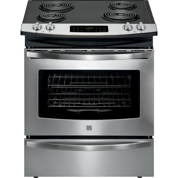 Kenmore 42523  4.6 cu. ft. Self-Clean Slide-In Electric Range w/ Deluxe Coil Elements - Stainless Steel
