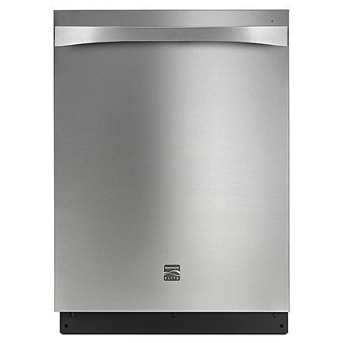 Kenmore Elite 14753  Dishwasher with Turbo Zone/360 Power Wash Spray Arm - Stainless Steel