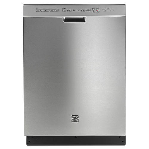 Kenmore Elite 14743  Dishwasher with Turbo Zone/360 Power Wash Spray Arm - Stainless Steel