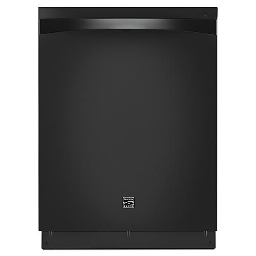Kenmore Elite 14759 Dishwasher with Turbo Zone/360 Power Wash Spray Arm - Black Exterior with Stainless Steel Tub at 45 dBa