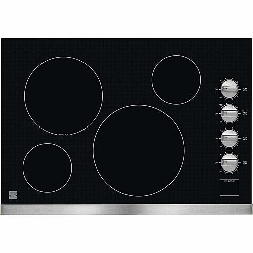 """Kenmore 45203  30"""" Electric Cooktop with Radiant Elements - Stainless Steel"""