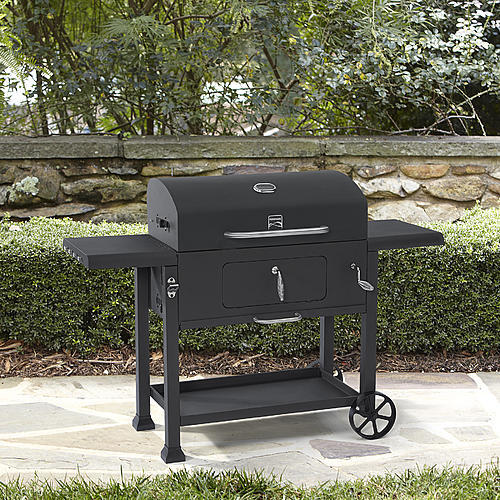 "Kenmore 61"" Charcoal Grill with Adjustable Charcoal Loading Tray"