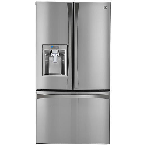 Kenmore Elite 73153  28.7 cu. ft. French Door Bottom Freezer Refrigerator – Stainless Steel
