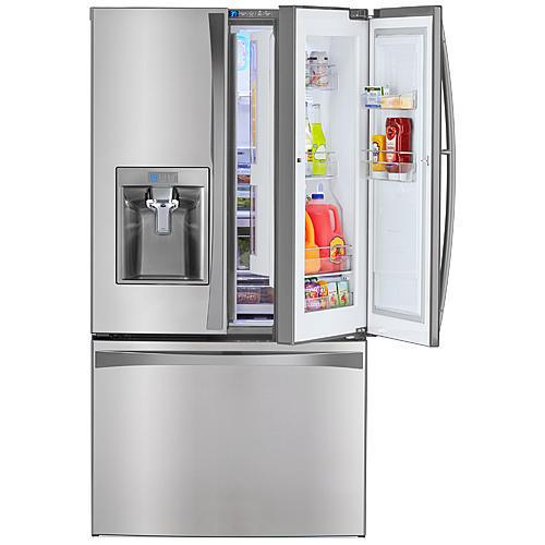 Kenmore Elite 73163  28.5 cu. ft. French Door Bottom Freezer Refrigerator w/ Grab-N-Go™ Door – Stainless Steel