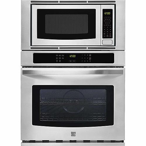 """Kenmore 49603  27"""" Electric Combination Wall Oven - Stainless Steel"""