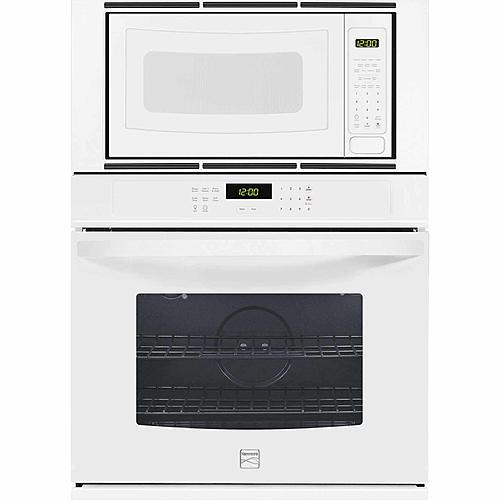 """Kenmore 49602  27"""" Electric Combination Wall Oven - White"""