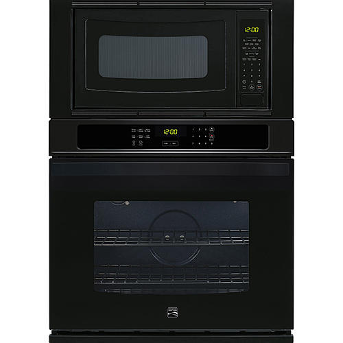 """Kenmore 49619  30"""" Electric Combination Wall Oven - Black"""