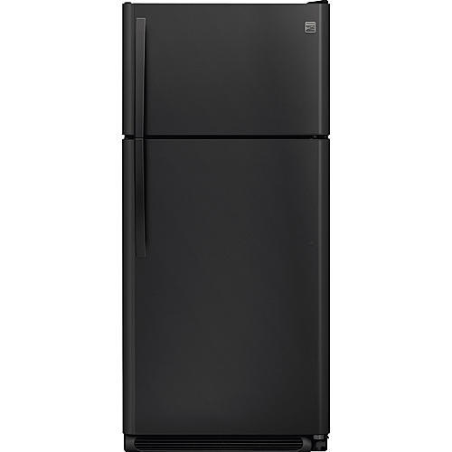 Kenmore 60509  18 cu. ft. Top-Freezer Refrigerator w/ Glass Shelves - Black