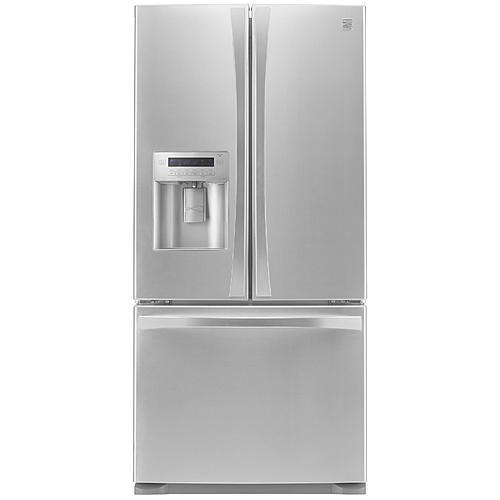 Kenmore Elite 73133  24.2 cu. ft. French Door Bottom-Freezer Refrigerator - Stainless Steel