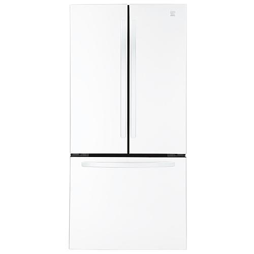 "Kenmore 71312  23.9 cu. ft. 33"" French Door Bottom-Freezer Refrigerator - White"