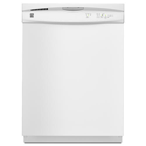 Kenmore 13802 Dishwasher with Grey Tub/Heated Dry - White Exterior with Plastic Interior Tub at 56 dBa