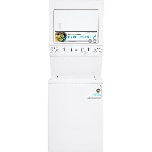 """Kenmore 61722 High Efficiency 27"""" Super Capacity 3.8 cu. ft. Electric Laundry Center- White"""