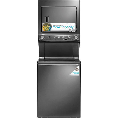 "Kenmore 71723 High Efficiency 27"" Super Capacity 3.8 cu. ft. Gas Laundry Center - Metallic"