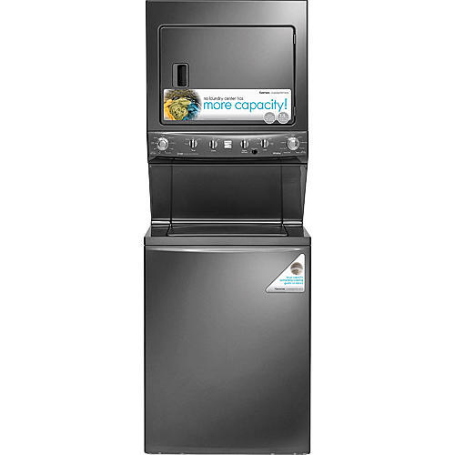 "Kenmore 61723 High Efficiency 27"" Super Capacity 3.8 cu. ft. Electric Laundry Center - Metallic"