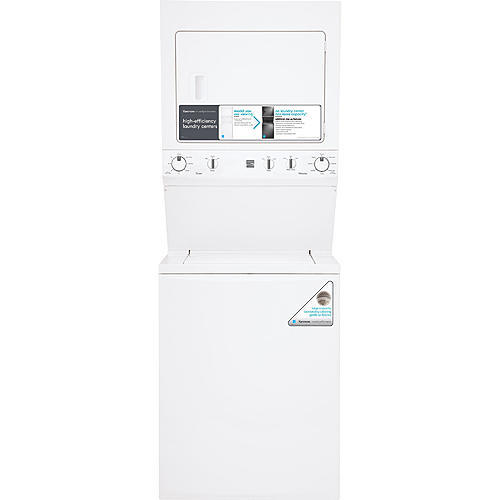 "Kenmore 71712 High Efficiency 27"" Super Capacity 3.8 cu. ft. Gas Laundry Center - White"