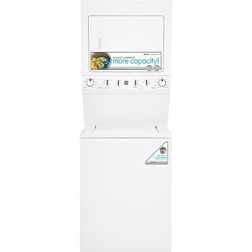 "Kenmore 71722 High Efficiency 27"" Super Capacity 3.8 cu. ft. Gas Laundry Center - White"