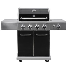 Kenmore Black And Stainless Steel 4 Burner Liquid Propane Gas Grill with 1 Infrared Searing Side Burner