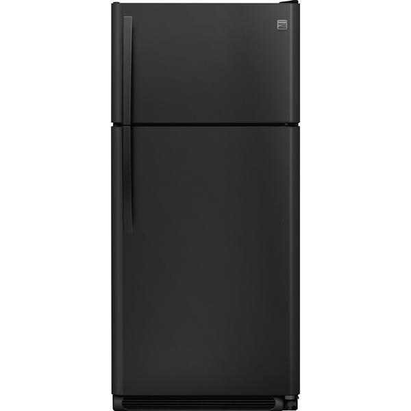 Kenmore 70819 18 Cu Ft Top Freezer Refrigerator Energy Star With Ice Maker Pre Installed Black Kenmore