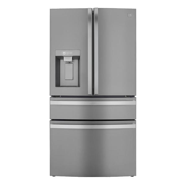 Kenmore Elite 72795 29.5 cu. ft. 4-Door French Door Refrigerator with Internal Cameras - Thawing Drawer - Finger Print Resistant Stainless Steel