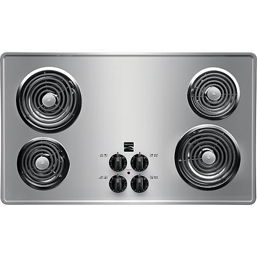 "Kenmore 41323 36"" Electric Coil Cooktop - Stainless Steel"