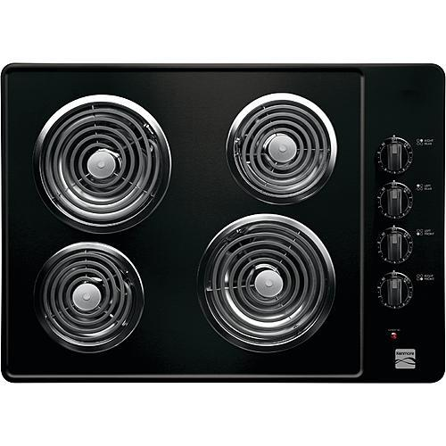 """Kenmore 41309 30"""" Electric Coil Cooktop - Black"""