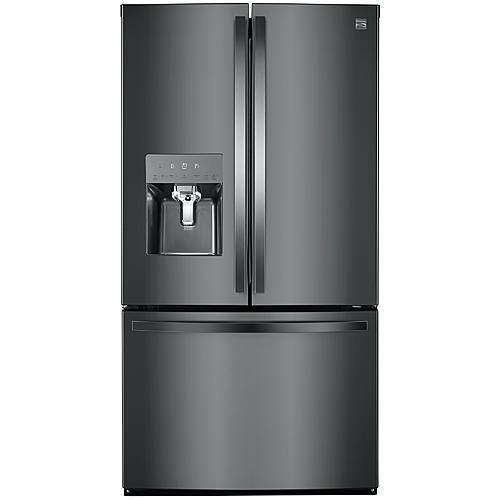 Kenmore 70357 22.1 cu. ft. Counter Depth Smart French-Door Refrigerator – Black Stainless Steel