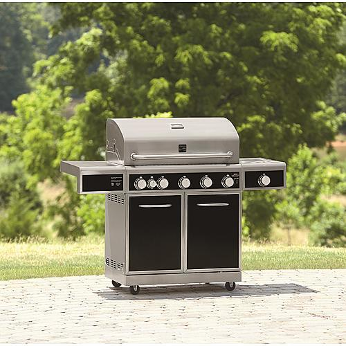 Kenmore 5-Burner Gas Grill with Ceramic Searing & Rotisserie Burners