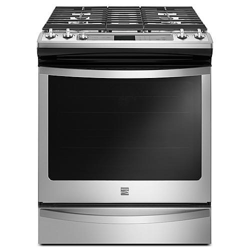 Kenmore 75123  5.8 cu. ft. Slide-In Gas Range with True Convection – Stainless Steel