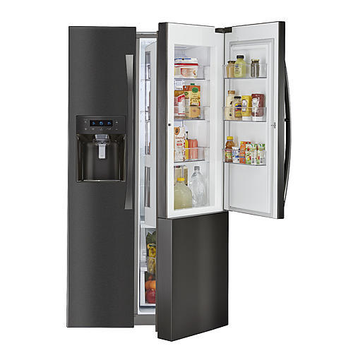 Kenmore Elite 51867  Counter-Depth Side-by-Side Refrigerator w/ Grab-N-Go™ - Black Stainless