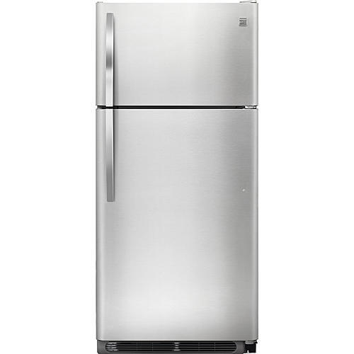 Kenmore 60813 18 cu ft Top-Freezer Refrigerator ENERGY STAR with Glass Shelves - Stainless Steel