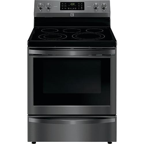 Kenmore 92637 5.4 cu. ft. Electric Range with Convection - Black Stainless Steel